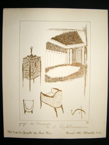 Gazette du Bon Ton 1920 Art Deco Interior Design Litho. #43 | Albion Prints